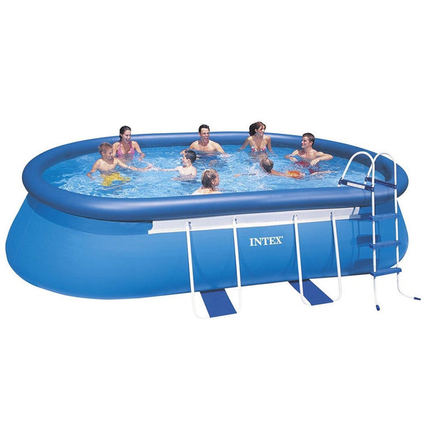 intex 20ft x 12ft x 48in oval frame pool set chickadee. Black Bedroom Furniture Sets. Home Design Ideas