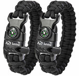 A2S Paracord Bracelet K2-Peak Series - High Quality Survival Gear Kit with Em... - Chickadee Solutions - 1