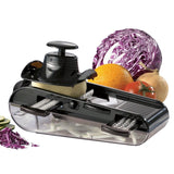 Starfrit 093087 4-Blades Easy Mandoline Slicer with Container Black - Chickadee Solutions