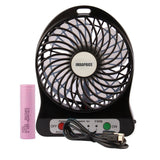 iMBAPrice 4-inch Vanes 3 Speeds Portable Mini USB Rechargeable Desktop Fan wi... - Chickadee Solutions - 1