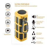 Hapyia Portable Wireless Bluetooth Speaker Outdoor with Power Bank (Yellow) - Chickadee Solutions - 1