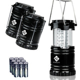 Etekcity 3 Pack Portable Outdoor LED Camping Lantern with 9 AA Batteries (Bla... - Chickadee Solutions - 1