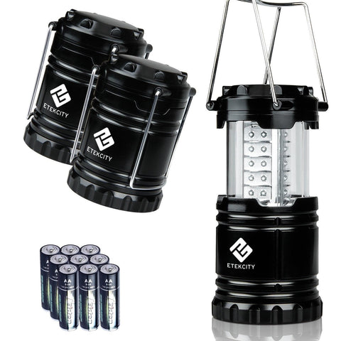Etekcity 3 Pack Portable Outdoor Led Camping Lantern With