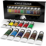 Acrylic Paint Set - 21ml x 12 - Art Paints - Artists' Quality - MyArtscape - Chickadee Solutions - 1