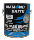 Diamond Brite Paint 31000 1-Gallon Oil Base All Purpose Enamel Paint White - Chickadee Solutions - 1