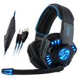 Noswer I8 3.5mm Wired Stereo Gaming Headset LED Light Headphones with Mic for... - Chickadee Solutions - 1