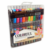 JX Tyon-K35 12 Colors Retractable Gel Ink Pens SetColored Roller Ball Point P... - Chickadee Solutions - 1