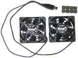 Coolerguys Dual 80mm USB Cooling Fans - Chickadee Solutions