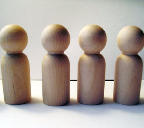 "Unfinished Wood Doll Bodies - Boys / Men (2 3/4"") - 20 Pieces 1 - Pack - Chickadee Solutions"
