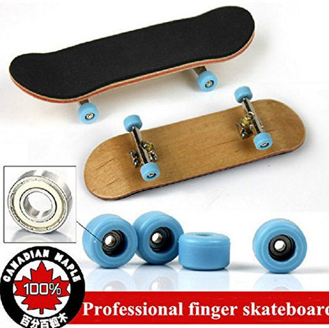abcGoodefg Professional Maple Complete Wooden Finger Skateboards with Alloy S... - Chickadee Solutions - 1