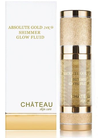 ABSOLUTE GOLD 24K SHIMMER GLOW FLUID 24 Karat Gold SILK PEPTIDES and HYALURON... - Chickadee Solutions - 1