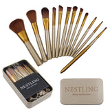 Nestling Makeup Brush Set Cosmetics Foundation Blending Blush Eyeliner Face P... - Chickadee Solutions - 1