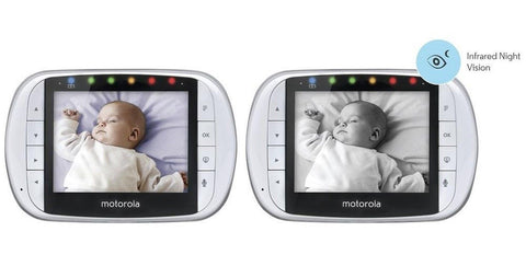 motorola video baby monitor with 2 cameras 3 5 inch lcd screen chickadee solutions. Black Bedroom Furniture Sets. Home Design Ideas
