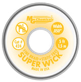 MG Chemicals 400 Series #2 Fine Braid Super Wick with RMA Flux 5' Length x 0.... - Chickadee Solutions