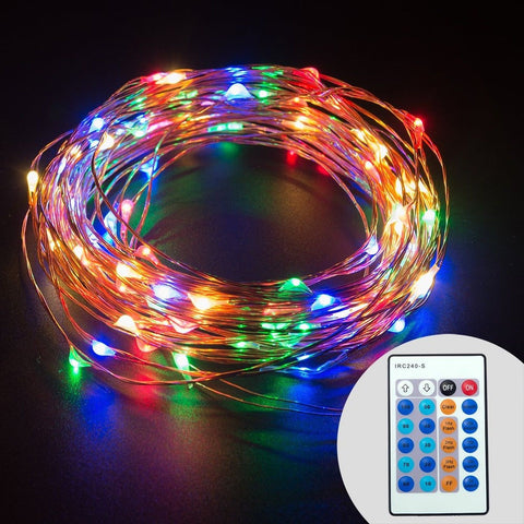 Led String Lights Dimmable : TaoTronics Dimmable Color LED String Lights Outdoor Lights Star Lights with 3... Chickadee ...