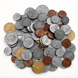 Play Money Coin set-30 pennies 20 each of nickles dimes and quarters 4 half-d... - Chickadee Solutions