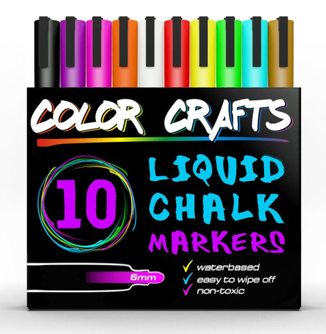 Amazing Liquid Chalk Markers - Genuine Artist Quality - Ultimate 10 Color Mar... - Chickadee Solutions - 1