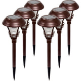 Westinghouse Brown Kenbury Solar Outdoor Garden Pathway LED Stake Lights (6 P... - Chickadee Solutions - 1