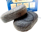 Charcoal Konjac Root 2 Set Large Facial Wash Sponges - Purest Form of Vegan A... - Chickadee Solutions - 1