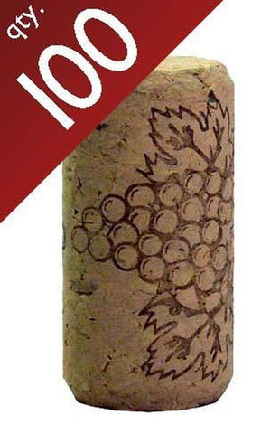 "#8 Straight corks 8"" x 1 3/4"" Bag of 100 - Chickadee Solutions"