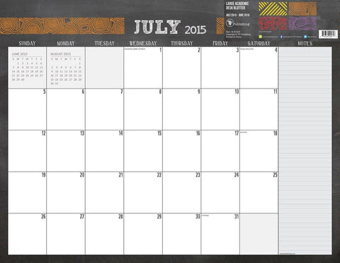 2016 Chalk It Up 17 Month Desk Blotter Calendar - Chickadee Solutions