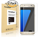 Galaxy S7 Screen Protector [ 3D Full Coverage] iVoler [2-Pack] [Anti-Scratch]... - Chickadee Solutions - 1
