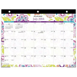 AT-A-GLANCE Academic Year Desk Pad Calendar Monthly July 2016 - June 2017 Min... - Chickadee Solutions - 1