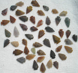 "Set Of 50 Indian Arrowheads Agate New Replica 1/2 "" - 1 1/2 "" L - Chickadee Solutions - 1"