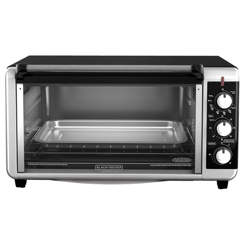 BLACK+DECKER TO3250XSB 8-Slice Extra Wide Toaster Oven Black/Silver - Chickadee Solutions - 1