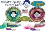 Crazy Aaron's Thinking Putty Phantoms (UV Reactive) Foxfire & Arctic Flare wi... - Chickadee Solutions - 1