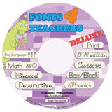 Fonts 4 Teachers Deluxe CD (Manual embedded) - Chickadee Solutions - 1