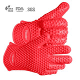 Aboden Silicone Heat Resistant Grilling BBQ Gloves for Cooking Baking Smoking... - Chickadee Solutions - 1