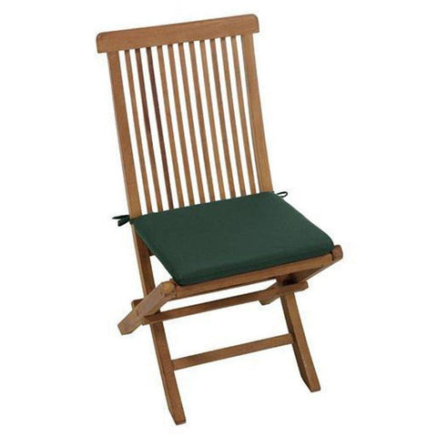 "16.5""w Outdoor Cushion For East Indies Side Chair 2""Hx16.5""Wx15""D FOREST GREE... - Chickadee Solutions"