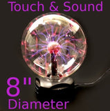 "8"" Plasma Nebula Ball Lightning Electricity Party Light Touch & Sound Activated - Chickadee Solutions - 1"
