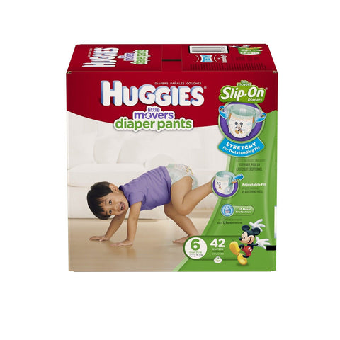 HUGGIES Little Movers Diaper Pants Size 6 42 Count Huggies - Chickadee Solutions - 1
