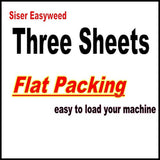 "3 sheets of 12"" x 15"" Siser Easyweed Heat Transfer Vinyl IRON ON T-shirt Heat... - Chickadee Solutions - 1"