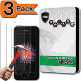 [3-Pack] iPhone SE Screen Protector PThink [Tempered Glass] [9H Hardness] [An... - Chickadee Solutions - 1
