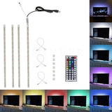 Minger USB LED Strip Lights Kit 4 Pre-Cut One Foot Strips & 3 Wire Mounting C... - Chickadee Solutions - 1