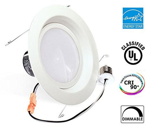 13Watt 6-inch ENERGY STAR UL-listed Dimmable LED Recessed Lighting Fixture Re... - Chickadee Solutions - 1
