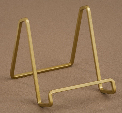 "1 X 4"" Gold Metal Square Wire Stand Plate Art Photo Holder Display - Chickadee Solutions"