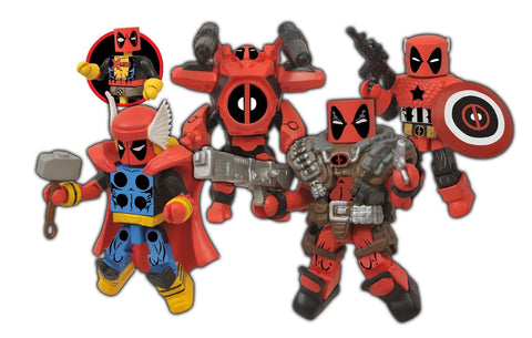 Diamond Select Toys Marvel Minimates Deadpool Assemble Box Set - Chickadee Solutions