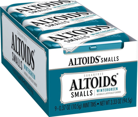 Altoids Smalls Sugar Free Wintergreen Mints 0.37-Ounce Tins (Pack of 9) - Chickadee Solutions - 1