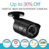 "ZOSI 1/3"" 1000TVL 960H CCTV Home Surveillance Outdoor IR Cut Bullet Security ... - Chickadee Solutions - 1"