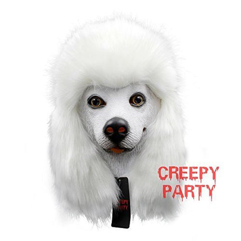 85c2081ffc3 Creepyparty Deluxe Novelty Halloween Costume Party Latex Animal Dog Head  Mask