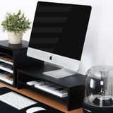 Fitueyes Computer Monitor Riser 21.3 inch 2 Tier Shelves Monitor Stand with k... - Chickadee Solutions - 1
