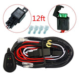 MICTUNING 12ft Wiring Harness Kit for Off Road LED Work Light Bar - 40Amp Rel... - Chickadee Solutions - 1