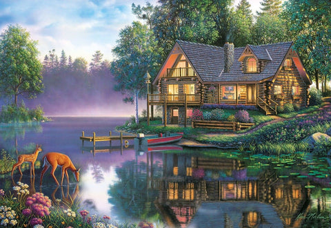 Buffalo Games Kim Norlien: Cabin Fever - 2000 Piece Jigsaw Puzzle by Buffalo ... - Chickadee Solutions - 1