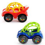O Ball Rattle and Roll Car Assorted Colors & Styles Blue 1 - Chickadee Solutions - 1