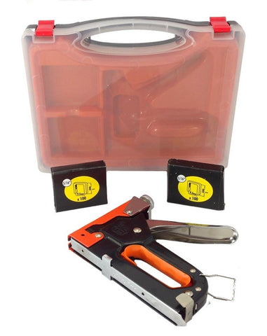 3 Way Stapler Staple Gun Brad Nailer KIT Heavy Duty Upholstery Wood with Case - Chickadee Solutions - 1