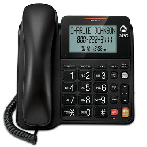 AT&T CL2940 Corded Phone with Speakerphone Extra-Large Tilt Display/Buttons C... - Chickadee Solutions
